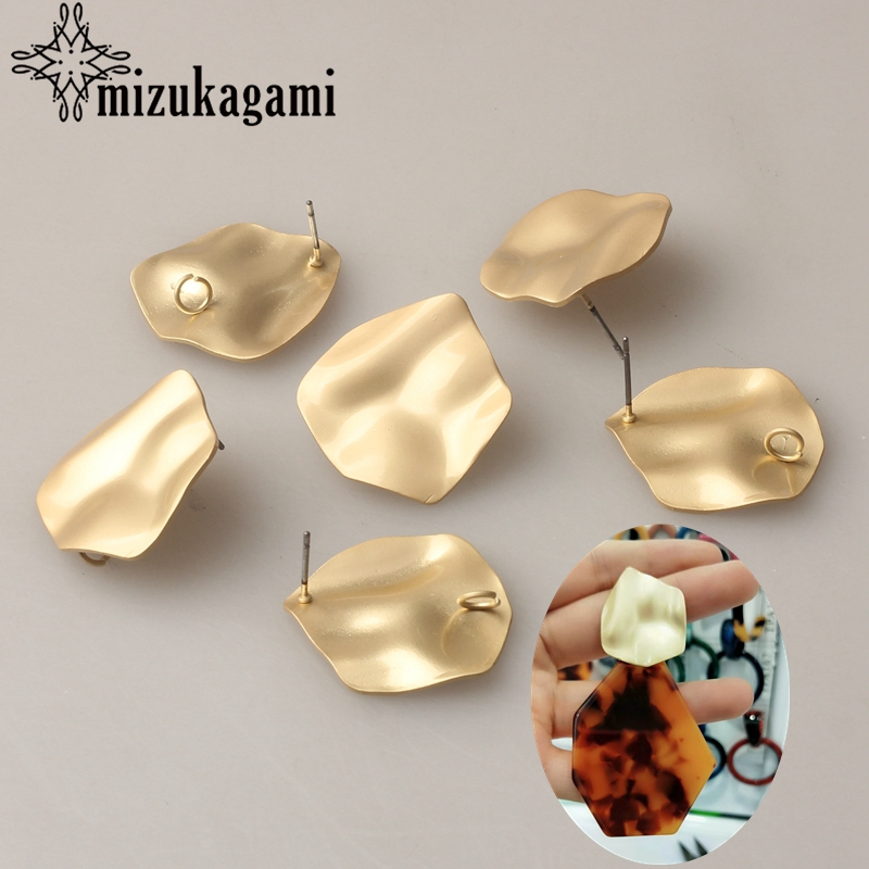 Zinc Alloy Golden Distorted Geometric Exaggerated Earring Base Earrings Connector 6pcs/lot 25*27mm For DIY Earrings AccessoriesZinc Alloy Golden Distorted Geometric Exaggerated Earring Base Earrings Connector 6pcs/lot 25*27mm For DIY Earrings Accessories
