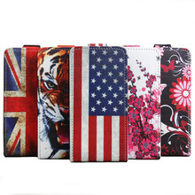Color Painted Up Down Open Flip Leather Phone Case For For Oukitel K6000 Pro 5.5 Inch MTK6753 Octa Core Android 6.0 Smartphone