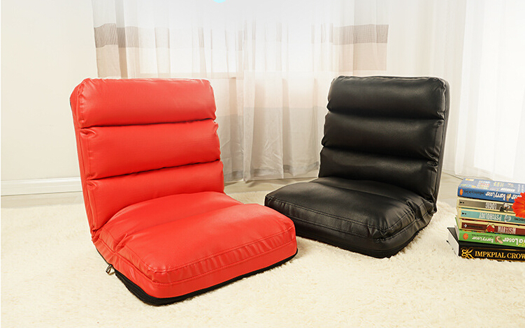 Aliexpress  Buy Floor Foldable Leather Chair Black\/Red Living - red living room chair