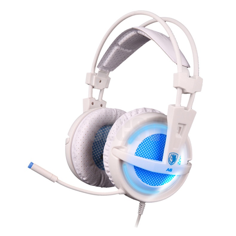 Sades A6 Gaming Headphones 7.1 Surround Sound Stereo USB Game Headset with Microphone Breathing LED Lights for PC Gamer (6)