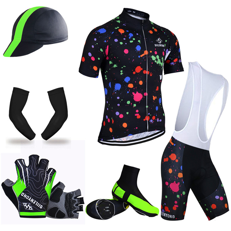 ФОТО Siilenyond Summer Big Cycling Set ! Summer Bike Clothing Jersey Shorts Sleeve Breathable Bicycle Wear Maillot Ropa Ciclismo