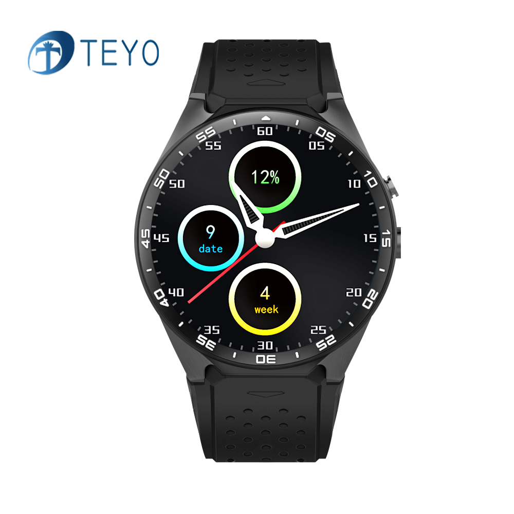 Teyo Smart Watch KW88 Heart Rate Monitor Pedometer Music ROM 4GB + RAM 512MB Camera SIM GPS Wifi Smat Watch for Android and IOS цена и фото