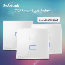 2018 New Broadlink TC2 Smart WiFi Wall Light Switch 1/2/3 Gang Touch RF Remote Smart Home Wall Touch Switch Works with Rm Pro+