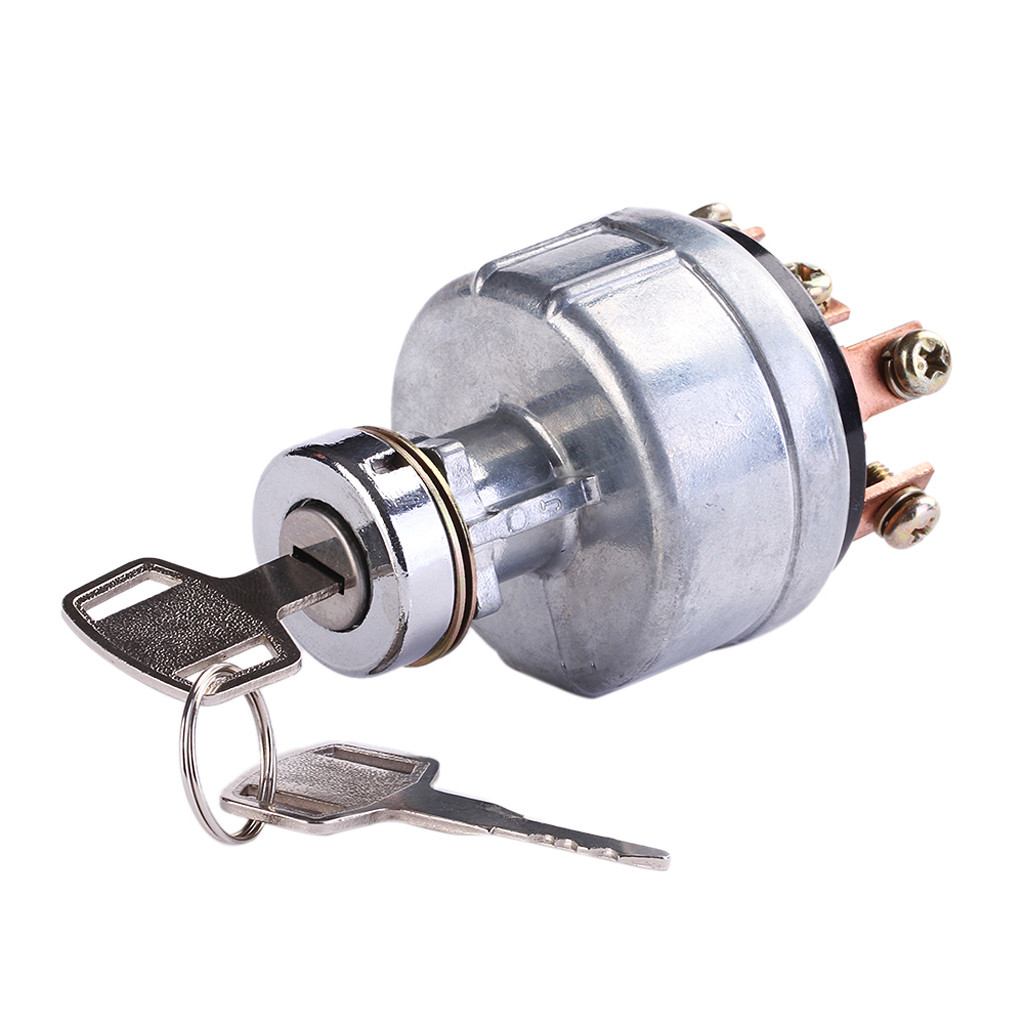 Ignition Starter Switch Button with 6 Terminal Wire Digger 2 Keys for SK200-3 SK200-5 SK120-5 Ignition Switch