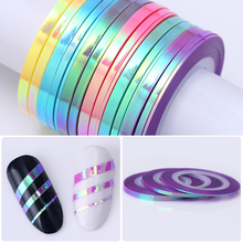 Nail Art Sticker Striping Tape Line Mermaid Candy Color 1mm 2mm 3mm Adhesive Sticker Nail Foil Tips DIY Design Tools Born Pretty