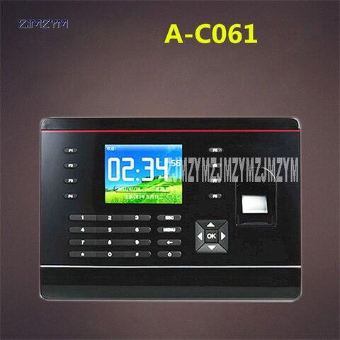 a c061 2 8 polegada tft biometrico de impressao digital comparecimento do tempo gravador impressao