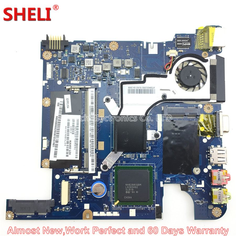 MOUGOL MBS6806002 MB.S6806.002 Laptop Motherboard For Acer Aspire One D250 250 Netbook KAV60 LA-5141P N270 Free Shipping