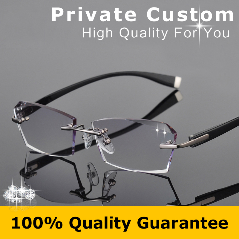 b3fe8a1f70 Good Flexibility TR Frame Eyeglasses Men Colored Clear Lens Glasses  Strength Rimless Prescription Glasses Myopia Eye Glasses 615-in  Prescription Glasses ...