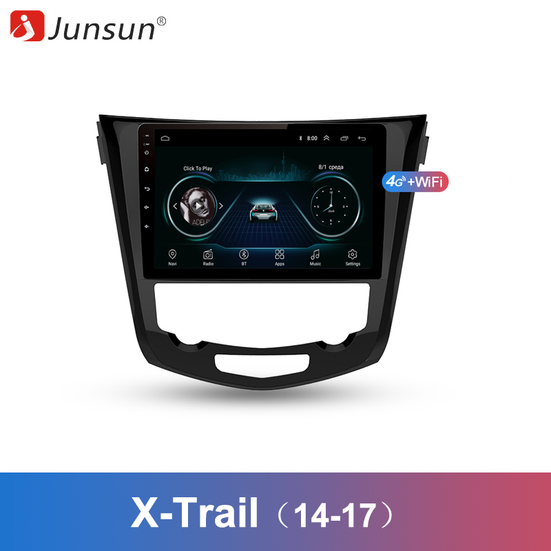 Junsun 2 Din Multimedia Video Player Android 8 1 GPS Navigation Radio WIFI For Nissan X