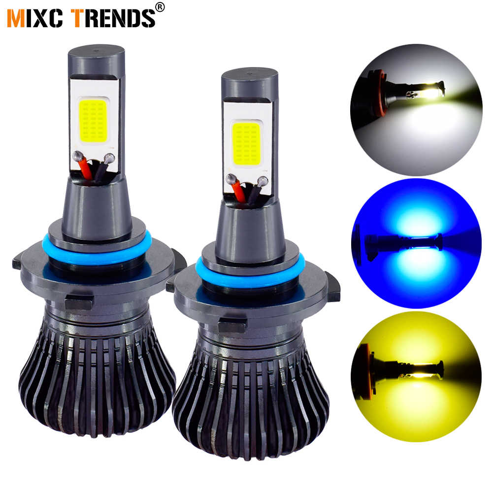 COB LED 12V Strobe Fog Light Motorcycle Car Headlight H1 H7 H11 H8 9005 HB3 9006 HB4 H4 880 881 Flash LED Fog Light Lamp Bulbs