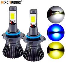 COB светодиодный 12 V стробоскоп света для мотоциклов и автомобилей фар H1 H7 H11 H8 9005 HB3 9006 HB4 H4 880 881 Flash СВЕТОДИОДНЫЙ противотуманный свет лампы