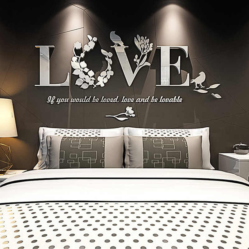 Super Small 3D Acrylic Three-Dimensional Wall Stickers Stickers Mirror Decorative Bedroom TV Background Wall Stickers