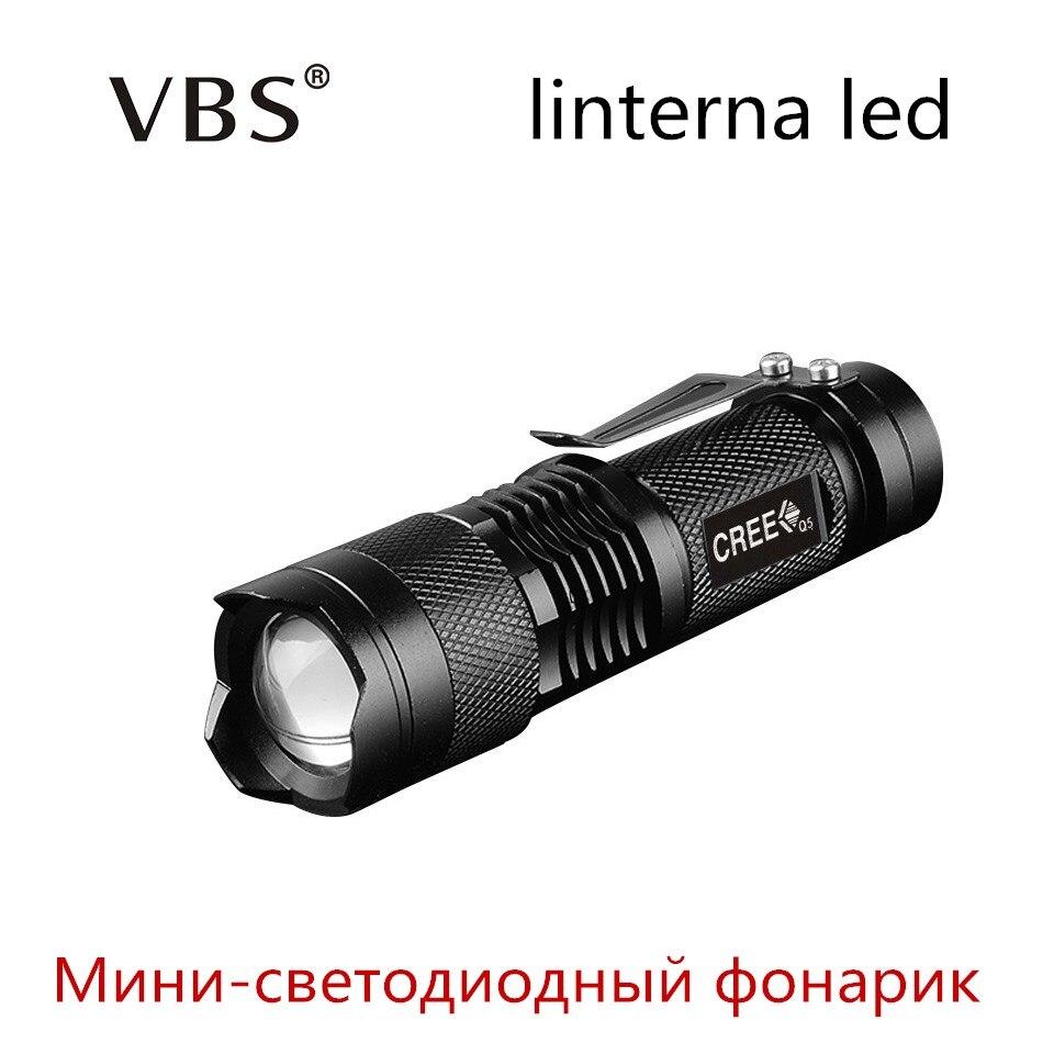 <font><b>LED</b></font> waterproof flashlight CREE Q5 2000lm Adjustable Zoomable <font><b>LED</b></font> <font><b>linterna</b></font> Portable Outdoor Mini lampe torche No 14500 battery