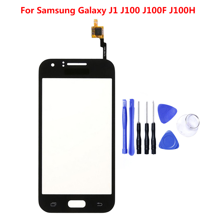 Touch Screen Digitizer Panel For Samsung Galaxy J1 2015 J100F J100 J100FN J100H Touchscreen Sensor Front Outer Glass Replacement