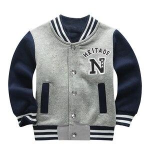Image 2 - Wiosna jesień dzieci płaszcz wzór w napisy Student odzież baseballowa chłopcy bluza dziewczyny bluzy Casual dziecięca kurtka odzież wierzchnia