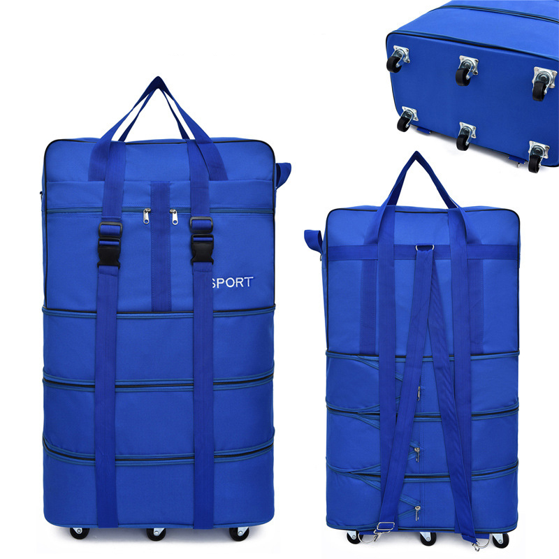 Image 3 - Large capacity Portable Travel Bag Rolling Luggage Can Expand 