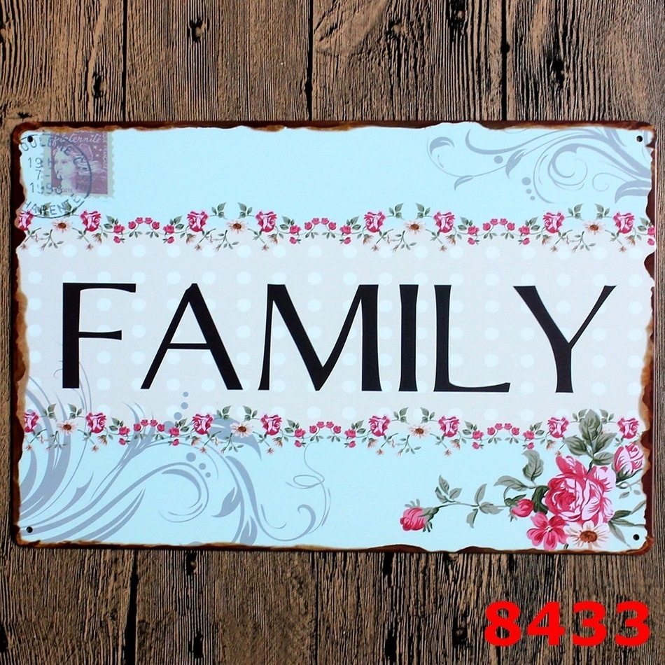 """New High Quality Metal painting letters signs """" FAMILY """" metal Poster Vintage for"""