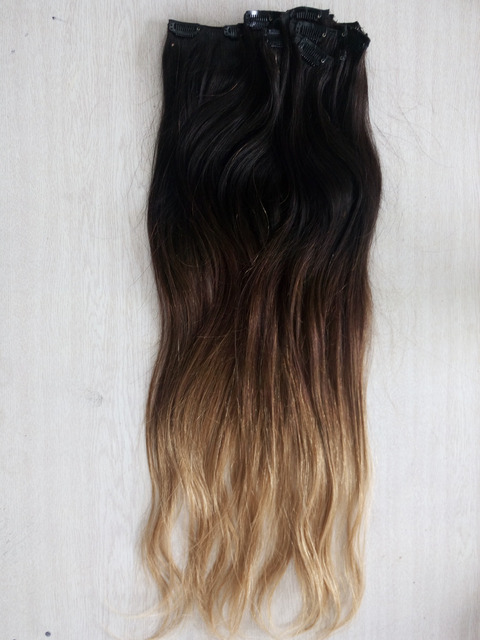 24inch 160g Indian Remy Deluxe Double Wefted Full Head Clip In Human