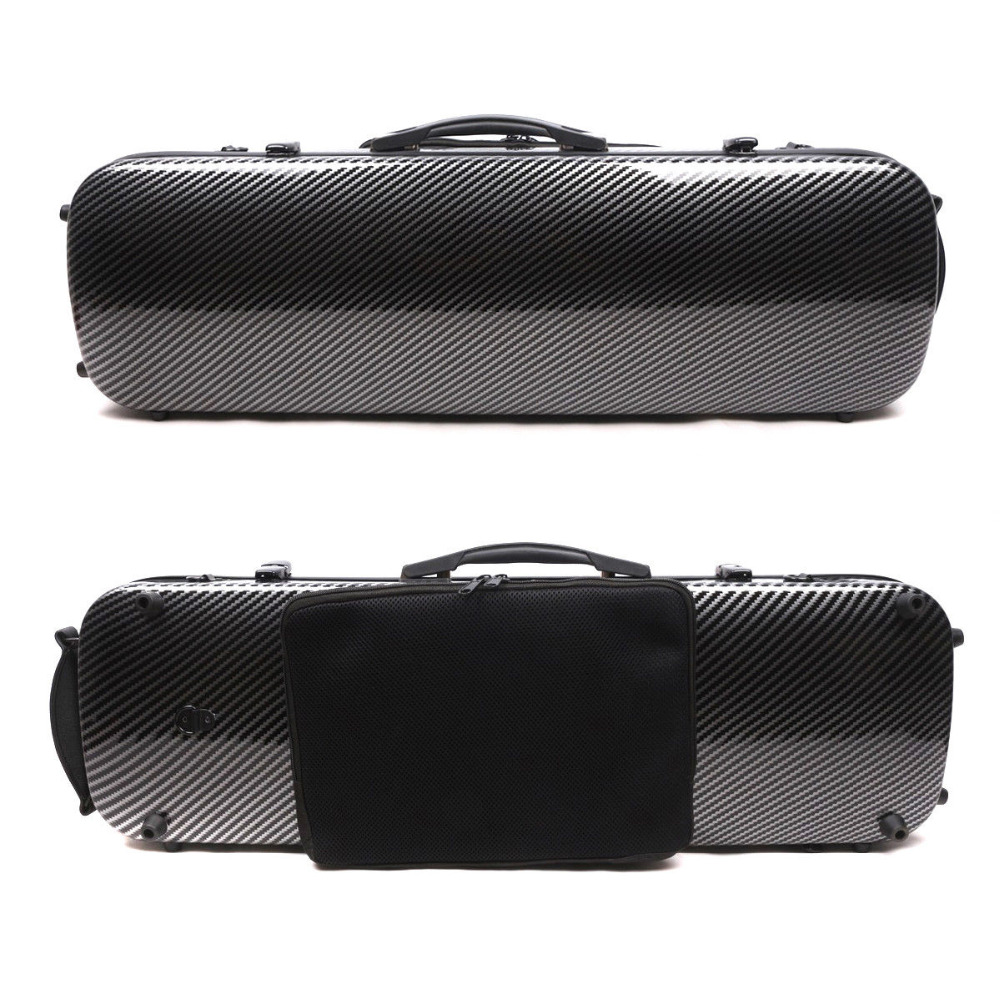 New 4/4 violin case carbon fiber composite Oblong Case hard Case Light Strong yinfente 4 4 violin case box black mixed carbon fiber oblong case strong light 2 1kg music sheet bag full size