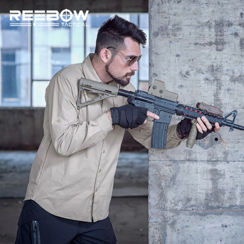 REEBOW TACTICAL Men Outdoor Sports Long Sleeve Shirt Autumn Shooting Hunting Shirt Airsoft War Game Urban SWAT Police Shirts men military tactical outdoor shirts 100% cotton breathable long sleeve shirt army multi pockets swat shooting urban sports