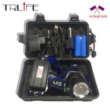 10000LM V6 L2 светодио дный фара лампы Масштабируемые фонарик свет 3 режима обновление головного света + AC/Автомобильное зарядное устройство + 2*18650 Батарея