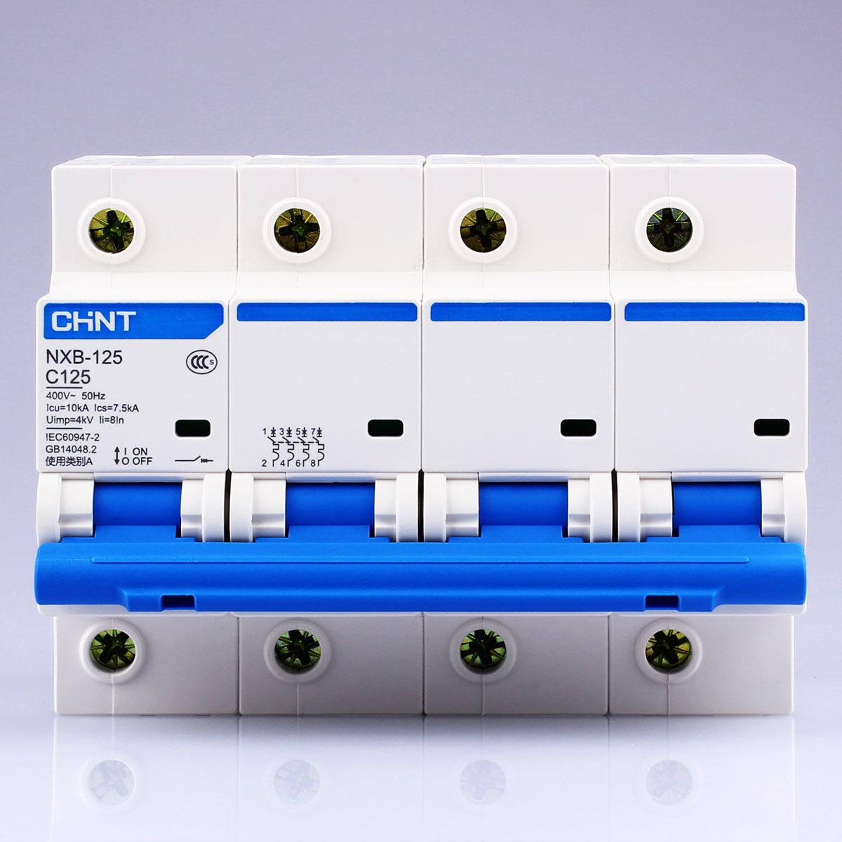 CHNT CHINT NXB-125 4P 63A 80A 100A 125A 230V Miniature Circuit breaker MCB NEW DZ47 блуза mango блуза
