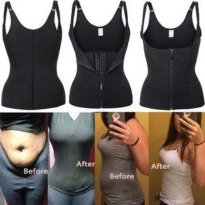Image 4 - 痩身ベルト下着汗サウナボディシェイパーウエストトレーナーコルセットモデリングストラップサーモ痩身のベスト