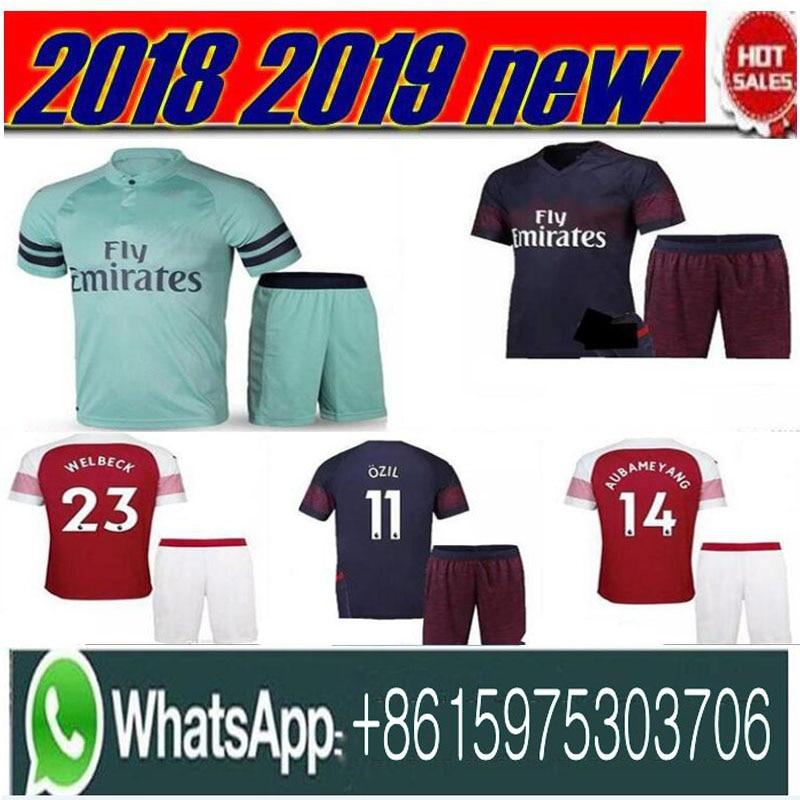 promo code b6784 57255 US $15.98 |ArsENal soccer jersey men kit 2018 2019 LACAZETTE MKHITARYAN  XHAKA RAMSEY OZIL AUBAMEYANG arsenal home away football-in T-Shirts from  Men's ...