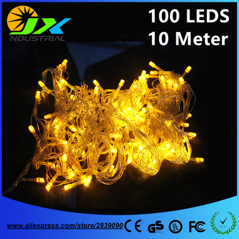Led string light 10M 100led AC110V or AC220V colorful holiday led lighting waterproof outdoor decoration light christmas light