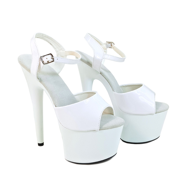 8f1bb33791a US $61.0 39% OFF|Leecabe Women's Shoes Platform PVC Sandals Pole Dancing  Shoes 7 Inch High Heels Shoes Nightclub Dance Shoes-in Dance shoes from ...