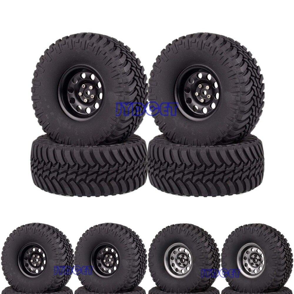 Metal 2 2 Beadlock Wheel 128mm Tires 4pcs 2024 3033 For RC 1 10 Model Car