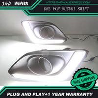 Free shipping ! Case For Suzuki Swift Fog lights DRL 12V LED Daytime Running Light Daylight Car styling