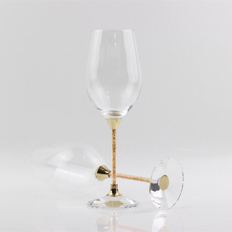 c9fe2732dee601 Bruiloft bril crystal roosteren rode wijn goblet gold glaswerk drinken glas  geschenken voor anniversary celebration in Bruiloft bril crystal roosteren  rode ...