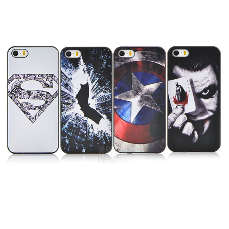 cute cartoon Superman Batman Captain America clown pattern Cover case apple iphone 5 5G 5S PT1361 - RobotSky Official Electronic Store store