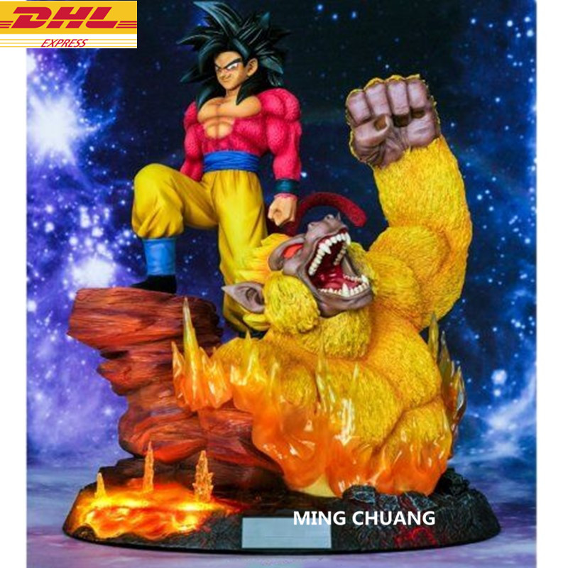 15 Статуя Dragon Ball Z Супер saiyan 4 Сон Гоку бюст Kakarotto со светодиодный подсветкой анимационная фигурка GK Коллекционная модель игрушки коробка D650