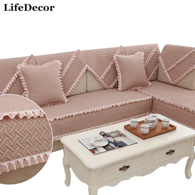 Slip Resistant Sofa Cushion Covers Idyllic Wood Ear Skirt Four Seasons  Luxury Minimalist Modern Fashion