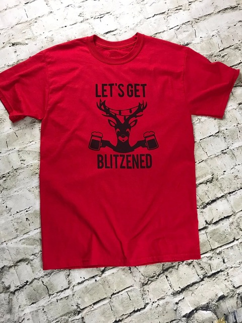 1cdce0c8f6f Let s get Blitzened unisex Tshirt Christmas Drinking Red Holiday funny  reindeer graphic cute aesthetic shirt tumblr