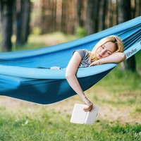 NatureHike Portable Parachute Hammock Garden Swing Outdoor Travel Camping Hiking Fishing Beach Hanging Bed Inflatable Hammock