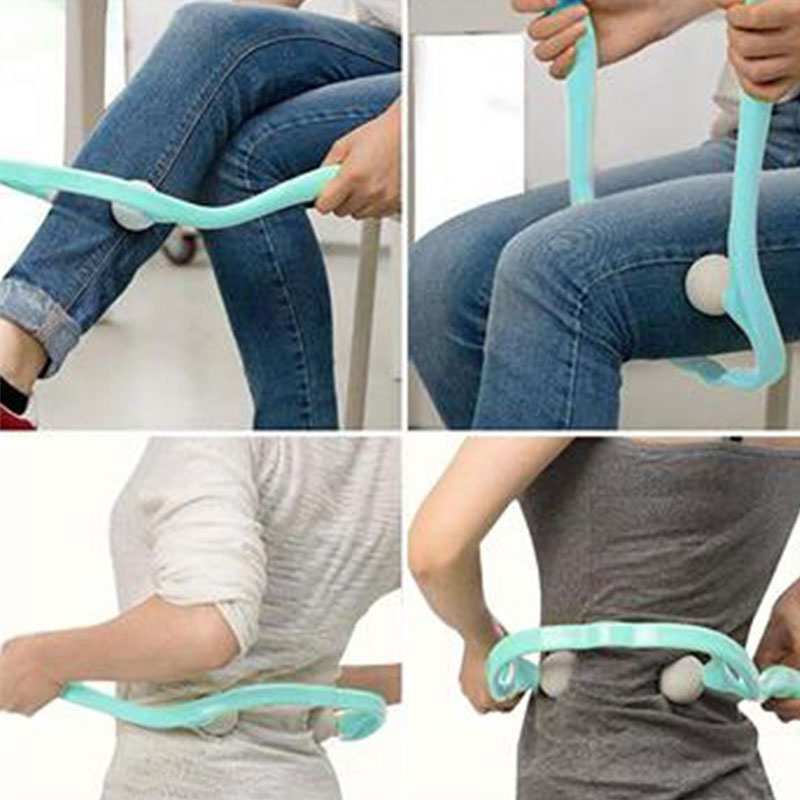 Neck Massager For Neck Shoulder Waist Lower Leg Cervical Massager Dual Trigger Point Therapist Hands Relaxation Device