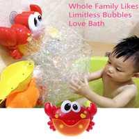 Nuevo cangrejo máquina de burbujas de baño de burbuja de juguete de baño chico bebé juguete recién nacido regalo agua juguetes de baño Juguetes