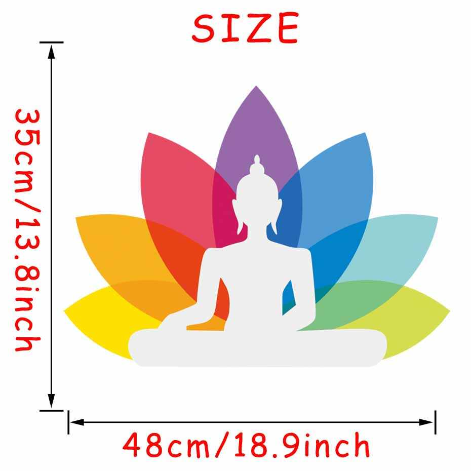Vinyl Lotus Yoga Sticker Buddha Ganesha Wall Decal Art Design Indian Religion Wallpaper For Bedroom Flower Mural Home Decor Wallpapers For Yoga Stickerswall Decals Aliexpress