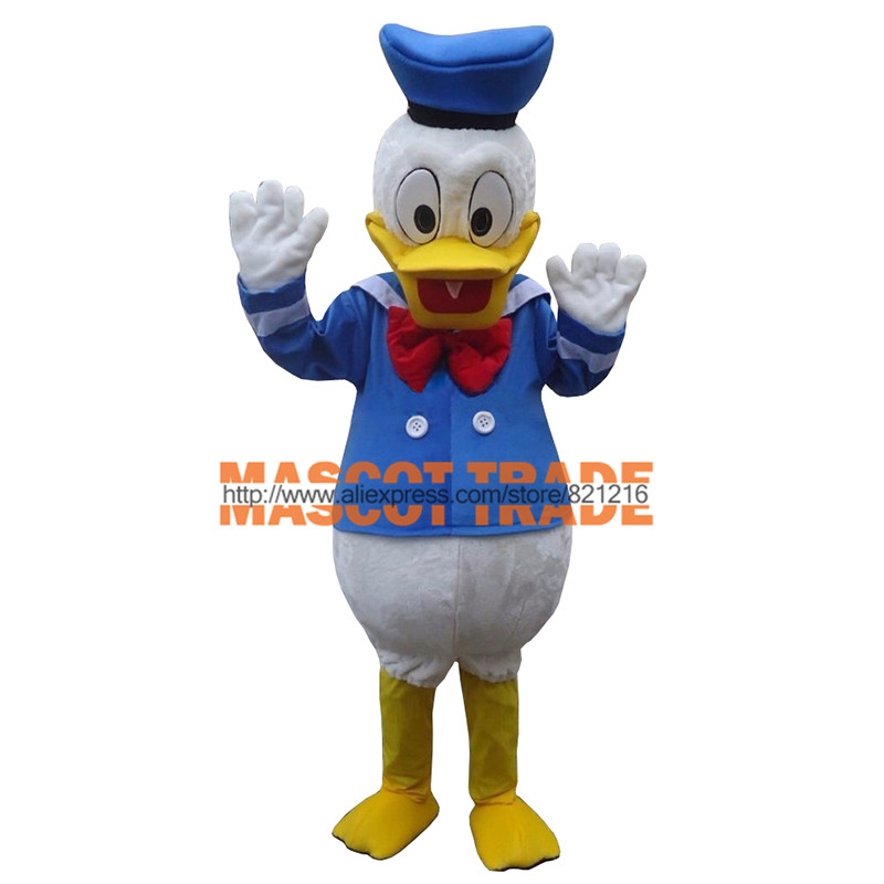 High quality adult size Donald Duck Mascot Costume sales Donald and Daisy Mascot Costume Free Shipping