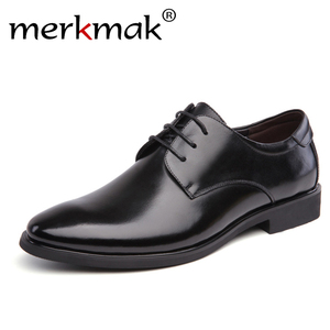 merkmak Men's Brand Leather Fo
