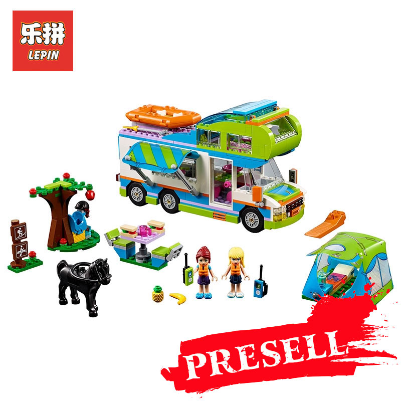 Lepin 01062 Good Friends Girl Series The Motorhome Building Blocks Bricks Funny Toys As Children Birthday Gift LegoINGlys 41339 building blocks super heroes back to the future doc brown and marty mcfly with skateboard wolverine toys for children gift kf197