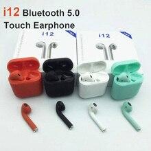 I12 Tws Bluetooth 5,0 наушники гарнитура мини беспроводные наушники истинные беспроводные стерео наушники для Совместимый со смартфонами через Bluetooth наушники