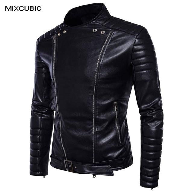 MIXCUBIC Autumn College style Unique zipper design PU leather ...