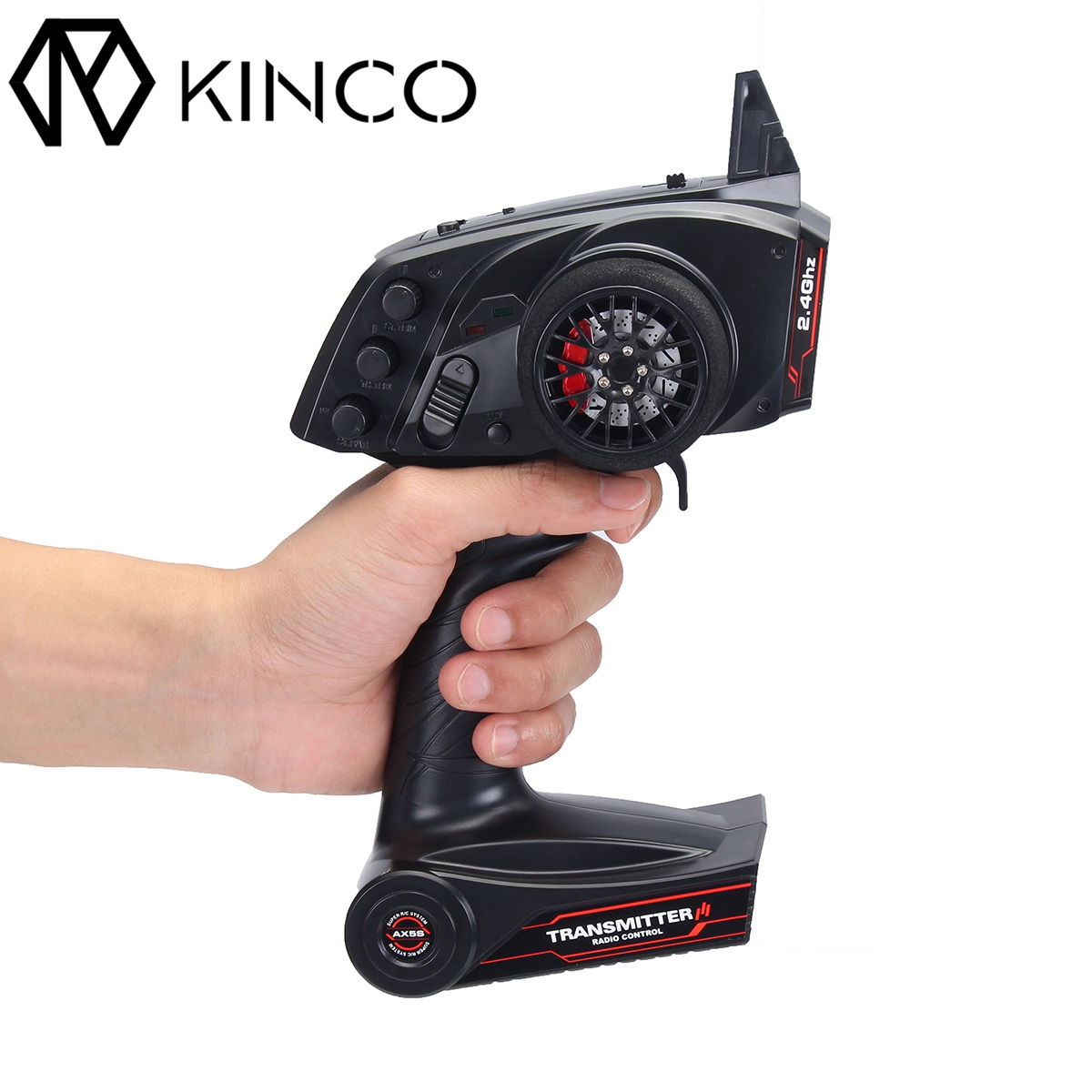 KINCO Radio Remote Control Transmitter 2.4G 3CH AFHS With Receiver For RC Car/Boat Model Toys Part Toys Hobbies goolrc brand ax5s 2 4g 3ch afhs radio rc transmitter with receiver super active passive anti jamming for rc car boat