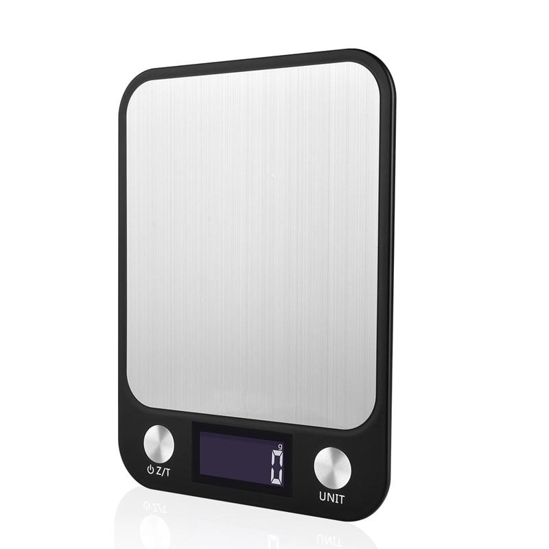 Ferramentas de Medição Portátil Escala Digital Lcd Escalas Eletrônicas Steelyard Cozinha Balança Comida Postal Peso Equilíbrio 5000g 5kg x 1g