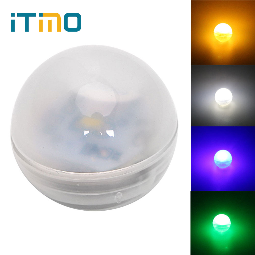 LED Float Light Round Flash Lamp For Christmas Wedding Party Holiday Fairy Lights Lantern Lamp Ball Balloon Lights