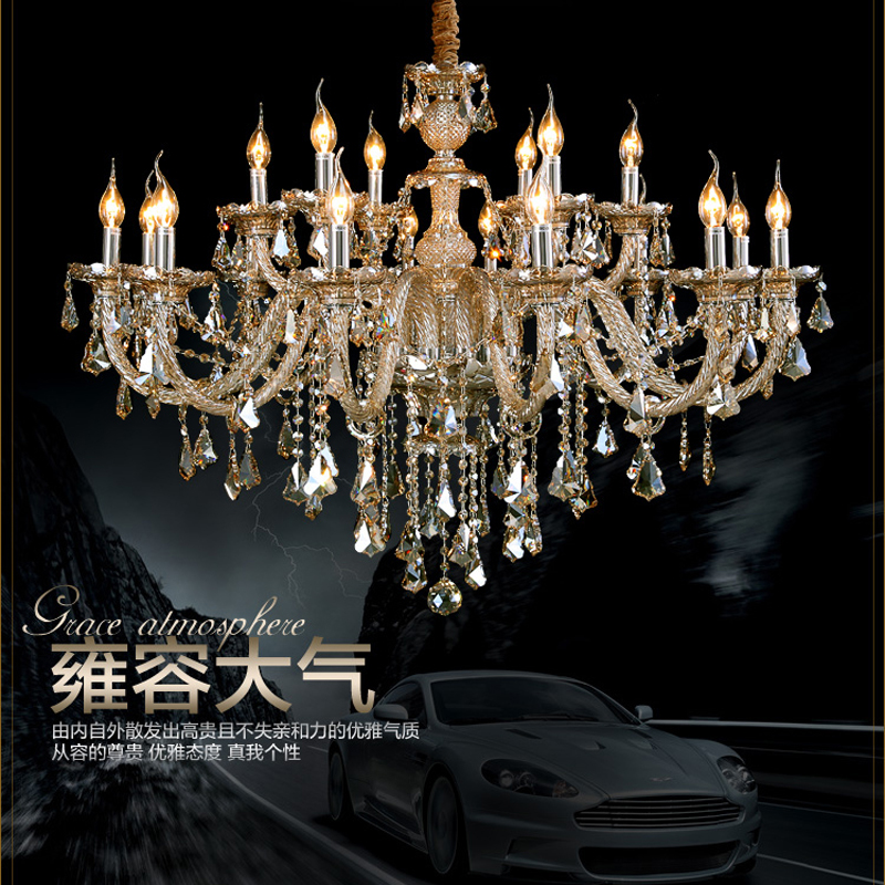 Modern Crystal Chandelier Lamp Interior Lighting Led